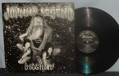 Johnny Legend 1998 Rockabilly, Country Lp Bitchin' Signed Cover Nm Vpi Nr