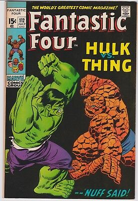 Fantastic Four #112 Hulk Vs. Thing Vf-