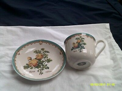 Kent Pottery Cup & Saucer - Rose Pattern