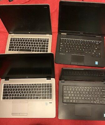 Lot of 4: HP EliteBook 850 G3 - HP Folio 9480m  Dell Lautitude 3480 - E5540
