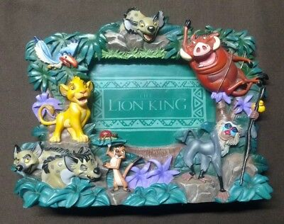 RARE DISNEY'S THE LION KING PICTURE FRAME YOUNG SIMBA Timon Pumbaa JUNGLE