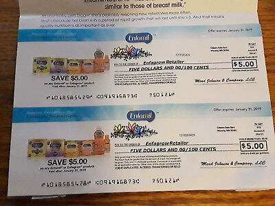 $10.00 on Any Enfamil Infant Formula Checks Coupons Exp 1/31/19