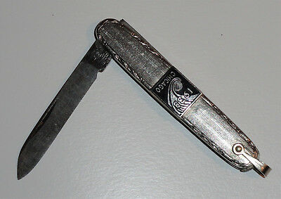 Rare Small Antique 1933 Chicago Worlds Fair Pocket Knife Made By Miller Brothers