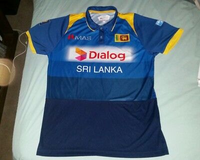 SRI LANKA 'Dialog' National Team Cricket Jersey Shirt Size Adult XL Genuine New