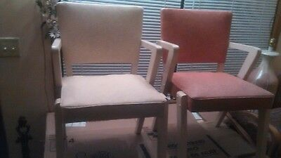 Set Of Mid Century Modern By Baumritter For Viko Zee Arm Vinyl Seat Retro Chairs