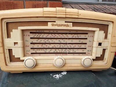 Antique Vintage Bakelite Hotpoint Valve Tube Radio Good Condition