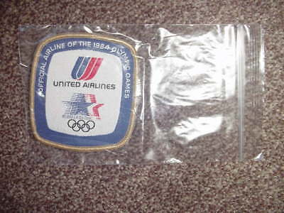 Vintage UNITED AIRLINES 1984 Olympic Patch / New Old Stock