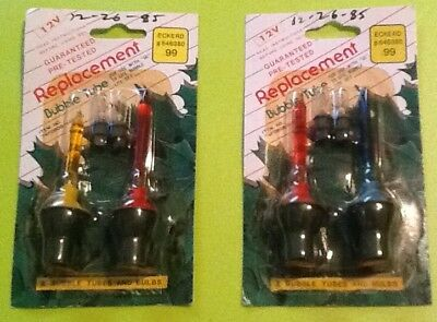 2 Pair of Vintage Mini NOS Christmas Bubble Light Replacement Bulbs