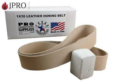 "1""x30"" Leather Honing Strop Belt - Buffing Compound Included - Pro Sharpening Su"
