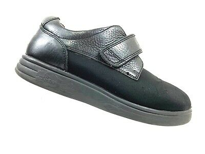 d91a4d53410b DR COMFORT 7.5 XW Annie Orthopedic Diabetic Loafers Womens Black Leather  Shoes