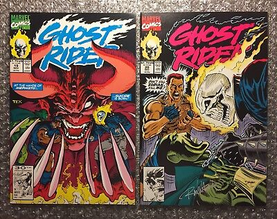Ghost Rider #19 (MEPHISTO) & #20 (WAGNER SIGNATURE) 1991 Marvel Copper Age LOT!