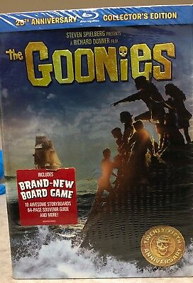 The Goonies 25th Anniversary Collectors Edition Blu-ray Disc with Boardgame NEW