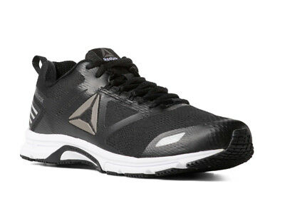 Reebok Men's Ahary Runner Shoes 4E Extra Wide Black White Pewter NEW