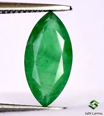 Natural Emerald Marquise Cut 12x6 mm 1.69 Cts Certified Untreated Loose Gemstone