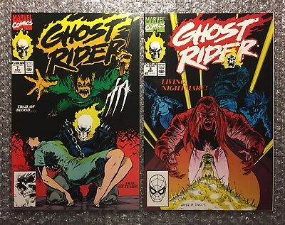 Ghost Rider #7 (BARBARA KETCH DEATH) & #8 (1ST HEART) 1990 Marvel Copper Age LOT