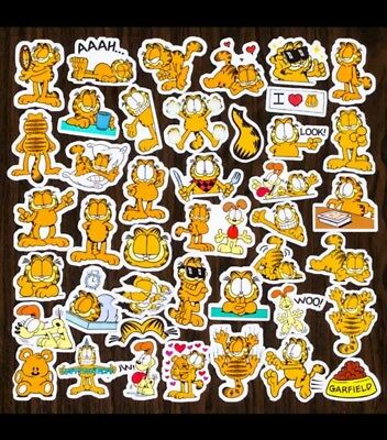 Lot of 40 Garfield stickers great for scrapbooks art projects etc set B
