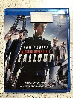Mission Impossible Fallout (Blu Ray only) 2018 Tom Cruise