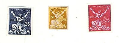 1920s EUROPE   BOHEMIA   LIBERTY  ISSUE  COLOUR   TRIAL    STAMPS   == 3 ==