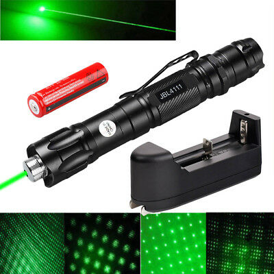 10 Miles 532nm Green Laser Pointer Light Pen Visible Beam Lazer Battery Star Cap