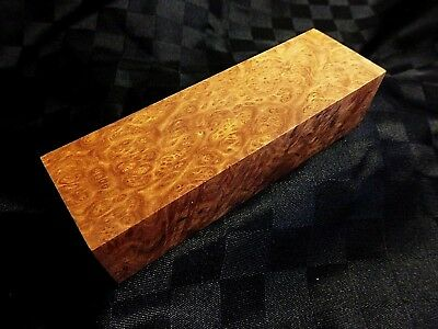 Premium Grade Australian Birdseye Brown Mallee Burl Wood Knife Blocks