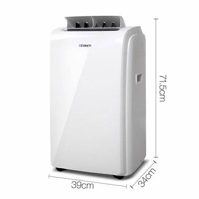 4 in 1 Portable Air Conditioner Reversible Cycle Fan Dehumidifier with Remote