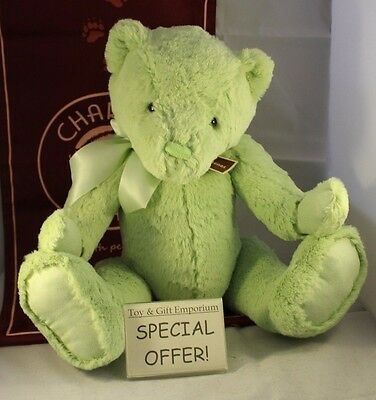 HALF PRICE! Charlie Bears Large First Bear MEADOW GREEN (Brand New!)