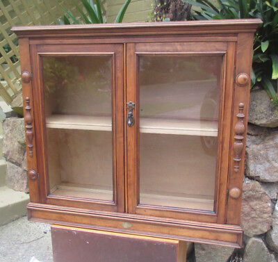 OLD WOODEN DISPLAY CABINET. Ringwood Nth, Vic.