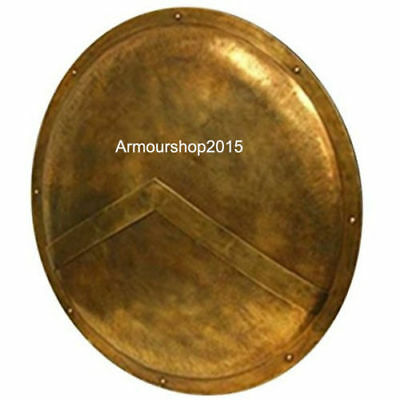 Medieval king leonidas 300 movie Spartan shield Brass