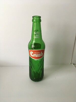 Vintage Green Soda Pop Bottle - ORANGE Crush 10 fl. oz. Evanston, IL.