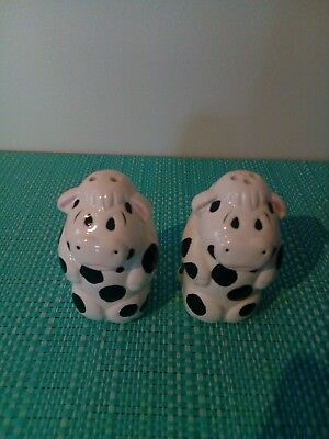 Black and white spotty cows Salt And Pepper Shakers.