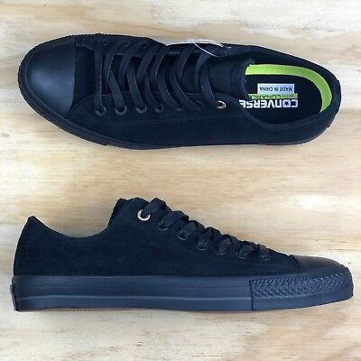 8b1f103581cf Converse Chuck Taylor All Star Pro Cons Ox Black Suede Low Top Fashion Shoe  Size