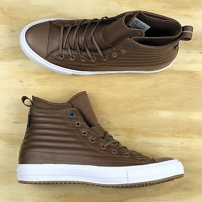 d642eb58729073 Converse Chuck Taylor All Star Waterproof Boot Hi Brown Leather 157491C  Size 11