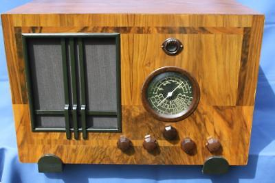 Huge Timber Cased Valve Radio Brand Not Known