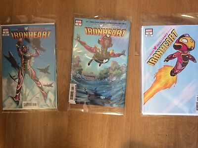 Ironheart  1st Self Titled Solo Series  X 3  (+2 Variants) NM