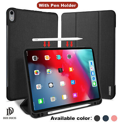 """iPad Pro 11"""" 12.9"""" 2018 Case, Shockproof With Pen Holder Smart Cover"""
