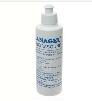 Anagel Ultrasound Gel Fetal Doppler Transmission Hypoallergenic Gel 250ml New