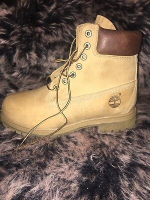 3429b4feaee TIMBERLAND HERITAGE CLASSIC 6 INCH Boots Men's Shoes Yellow Waterproof Size  12.5