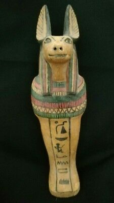 Ancient Egyptian God anubis wooden ushabti bc