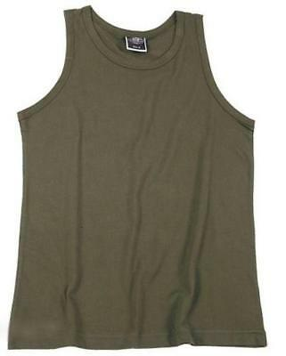 TANK TOP OLIVE GREEN  military army VEST sizes small to 3XL