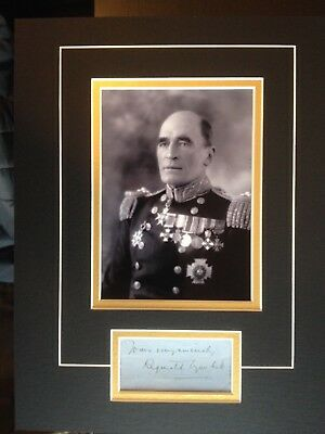 Reginald Tyrwhitt - Distinguished Naval Officer - Wwi - Excellent Signed Display
