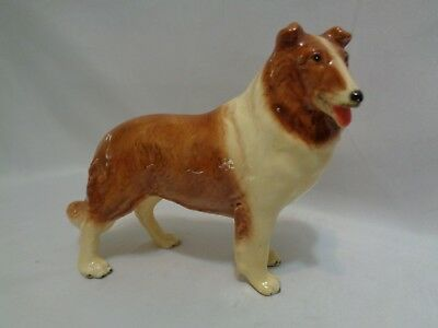 MidCentury Mortens Studio Large Standing Collie Dog Metal Core