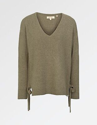 Women/'s Sarah Tie Side Jumper Fat Face BNWT Purple//Raisin