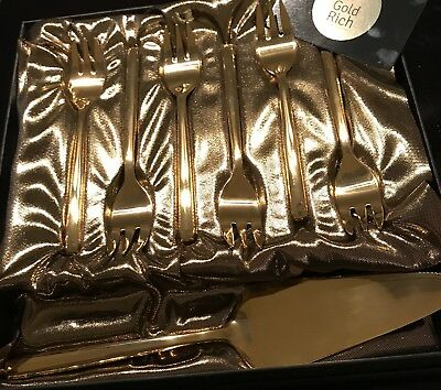 #Clearance Closing Sale# 24K Gold Plated Stella Cake Server And Pastry Folks