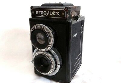 [ As-is ] vintage Argus two lens old large film camera ARGOFLEX From Japan