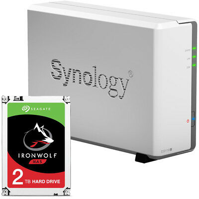 Synology DS119j 1-BAY DiskStation Assembled with a 2TB Seagate Ironwolf Drive