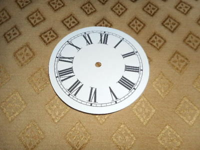 "Round Paper Clock Dial - 3"" M/T - Roman - MATT WHITE - Face /Parts/Spares"