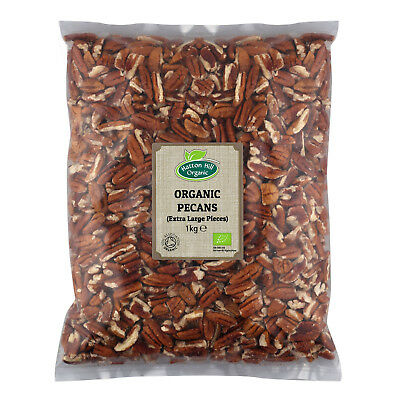 Organic Pecan Nut (Extra Large Pieces) 1kg Certified Organic