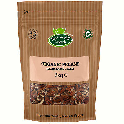 Organic Pecan Nut (Extra Large Pieces) 2kg Certified Organic