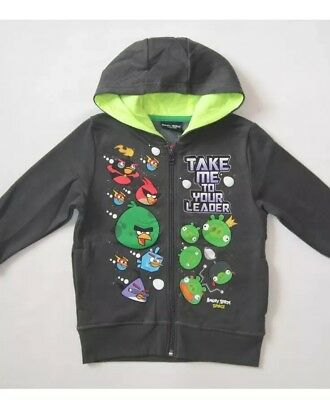 Boys Next 'Angry Birds' Hoodie with zip up front Size 4 Years
