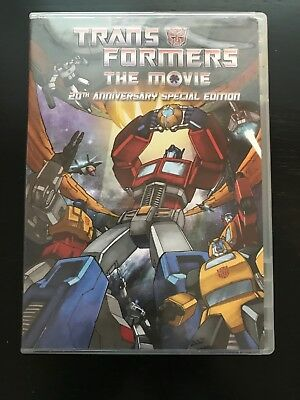 Transformers The Movie (DVD, 1986) - 20th Anniversary Complete - Like New